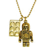 Lego Man Brass Necklace