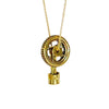 Piston And Tire Brass Necklace
