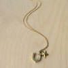Horseshoe Star Brass Necklace