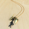 Rabbit Skull Fang Antler Brass Necklace