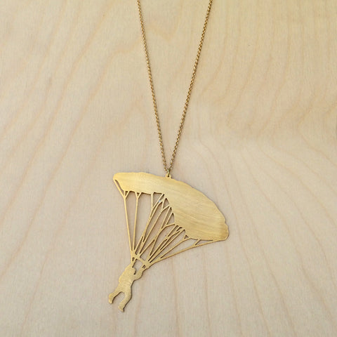 Parachute Brass Necklace