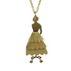 Mannequin In Ruffles Brass Necklace