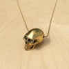 Large Skull Brass Necklace