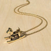 Rocking Horse Brass Necklace