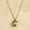 Gemstone Locket Brass Necklace