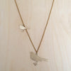 Two Birds Brass Necklace