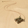 Binocular Brass Necklace