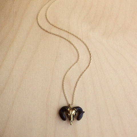Aries Brass Necklace