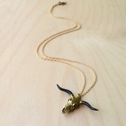 Taurus Brass Necklace