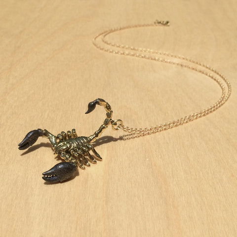 Scorpio Brass Necklace