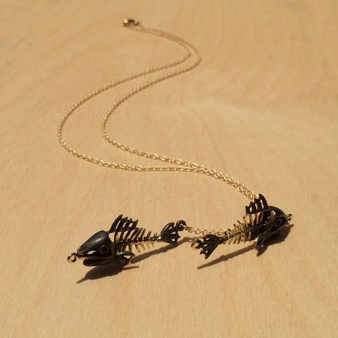 Pisces Brass Necklace