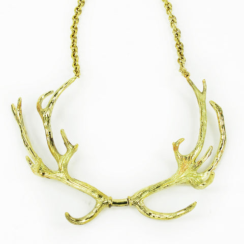 Antlers Brass Collar Necklace