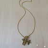 Airplane Brass Necklace