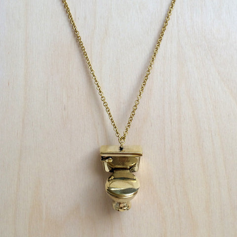 Toilet Brass Necklace