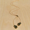 Boxing Gloves Brass Necklace
