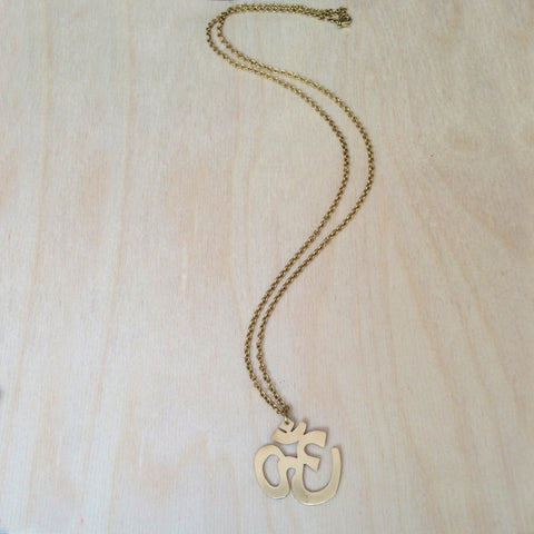 Ohm Brass Necklace