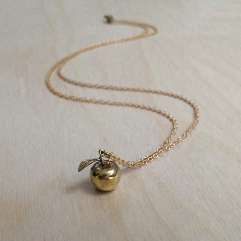 Apple Brass Necklace