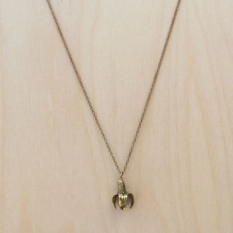 Banana Brass Necklace