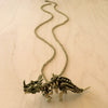 Triceratops Skeleton Brass Necklace