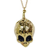 Strawberry Skull Brass Necklace