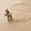 Robo Fawn Brass Necklace