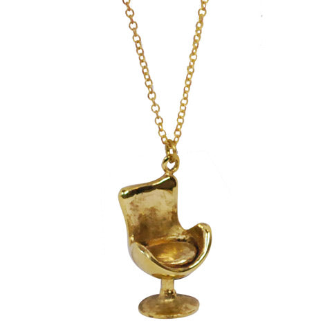 Retro Chair Brass Necklace
