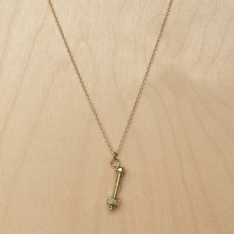 Screw Brass Necklace