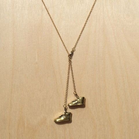 Sneaker Brass Necklace