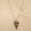 Triceratops Skull Brass Necklace