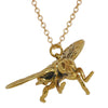 Fly Brass Necklace