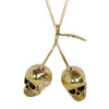 Cherry Skulls Brass Necklace