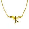 Small Mockingbird Brass Necklace