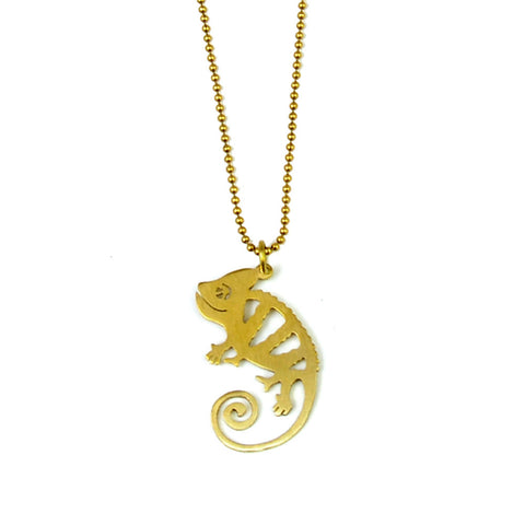 Chameleon Brass Necklace