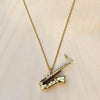 Saxophone Brass Necklace