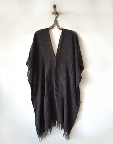 Liz Long Gauze Cotton Poncho
