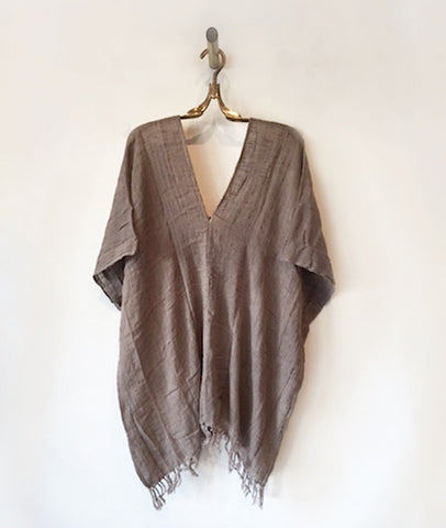 Liz Short Gauze Cotton Poncho