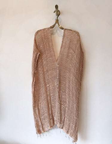 Sanchez Long Open Weave Cotton Poncho