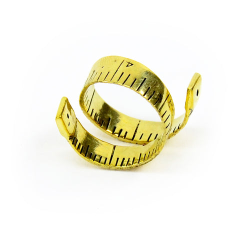 Measuring Tape Brass Ring