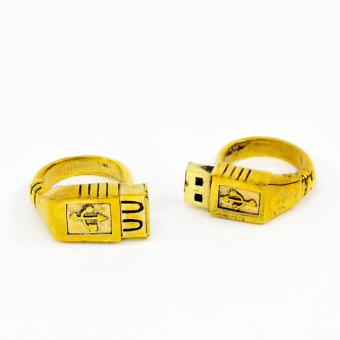 USB 2pc Brass Ring Set