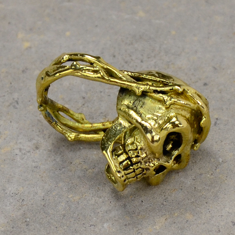 Skull And Thorn Brass Ring