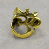 Large Ohm Brass Ring
