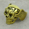 Skull With Wings Brass Ring