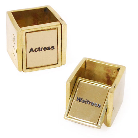 Actress/Waitress Brass Ring