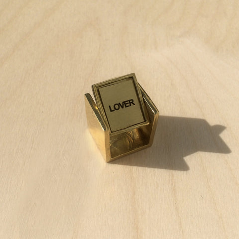 Lover/Hater Brass Ring