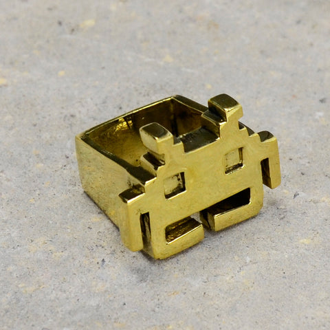 Space Invaders Brass Ring