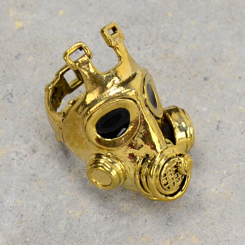 Gas Mask Brass Ring