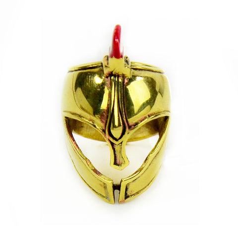 Trojan Helmet Brass Ring