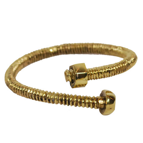 Screw Brass Bracelet