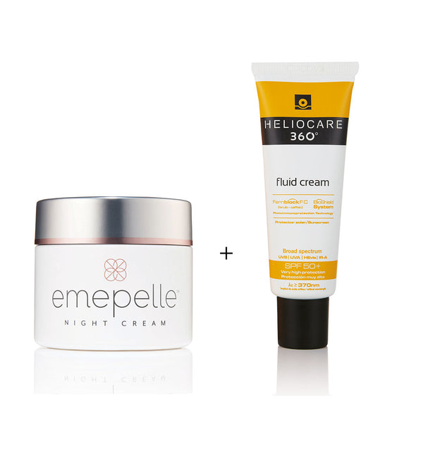 Clinic Exclusive Package - Emepelle Night Cream + Heliocare 360° Fluid Cream