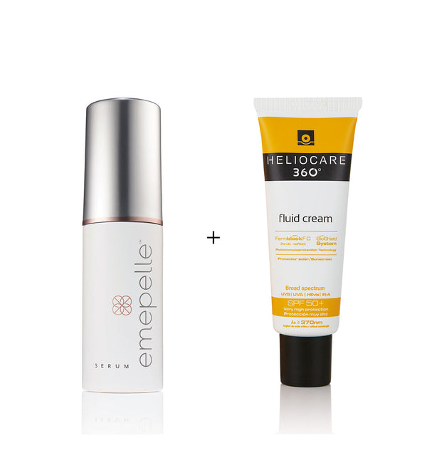 Clinic Exclusive Package - Emepelle Serum + Heliocare 360° Fluid Cream